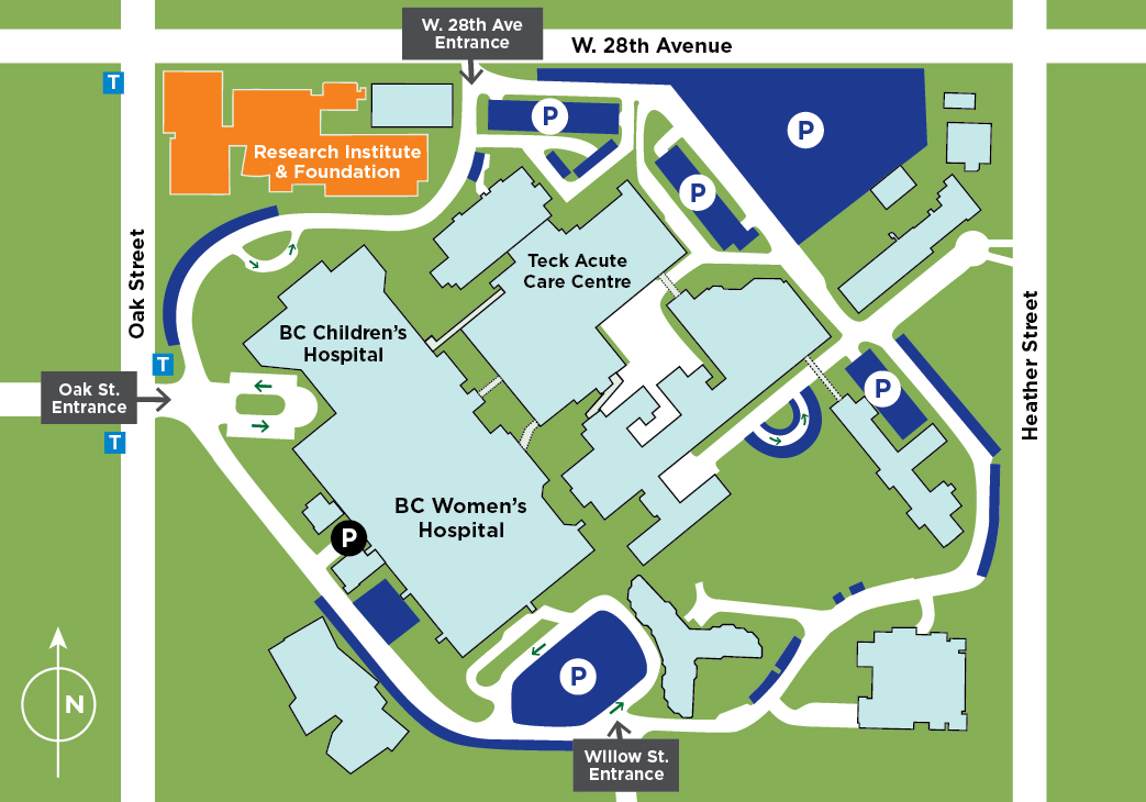 BCCHF Campus Wayfinding Map