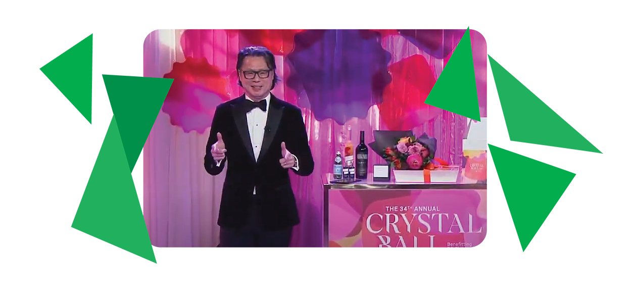 Fred Lee at the 34th annual Crystal Ball