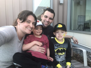 BCCH oncology patient Cameron and his family.