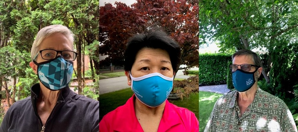 BC Hydro Power Pioneers wear face masks during COVID-19