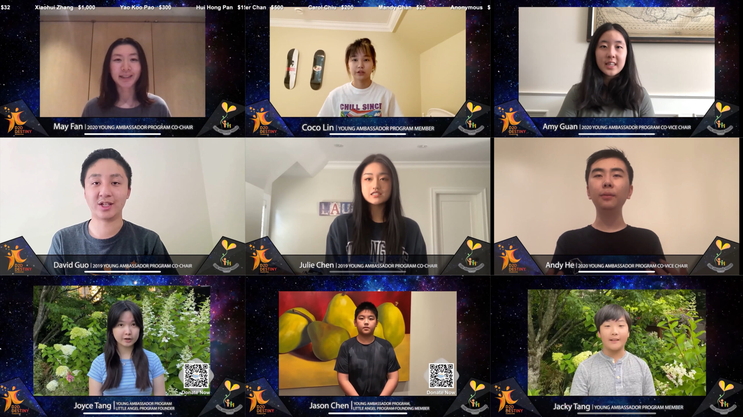 Members of the Young Ambassador Program