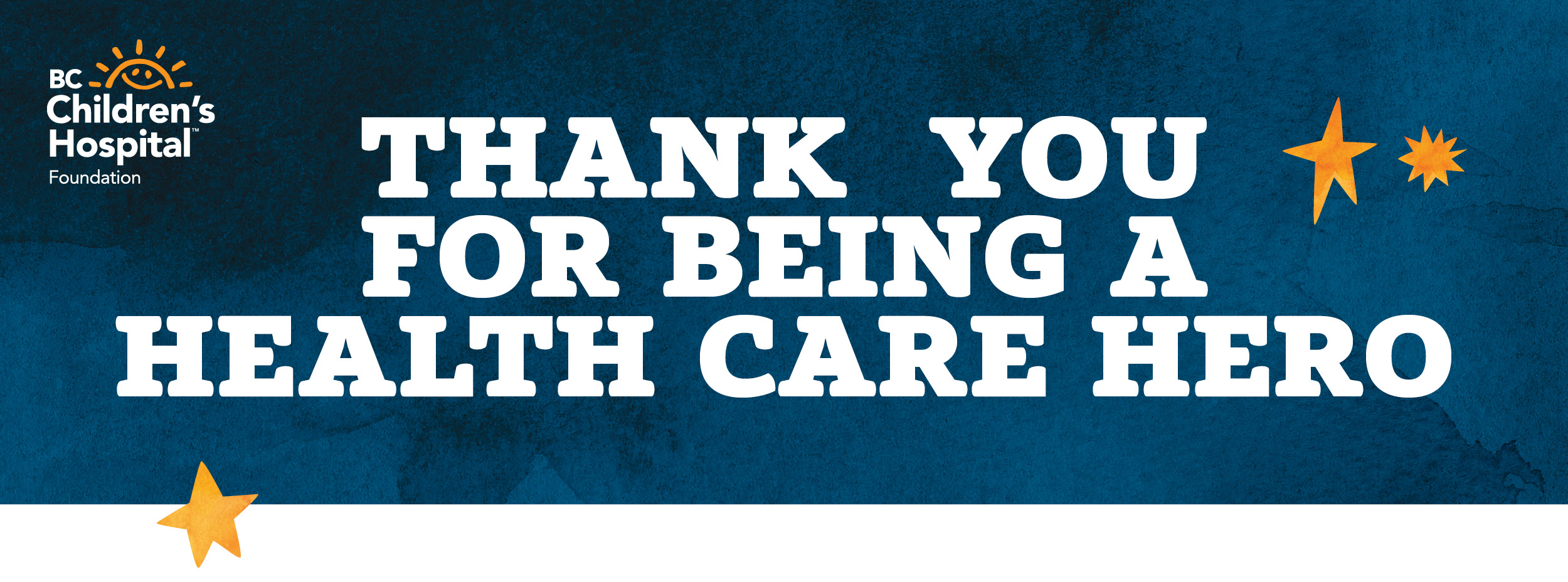 Thank you for being a health care hero
