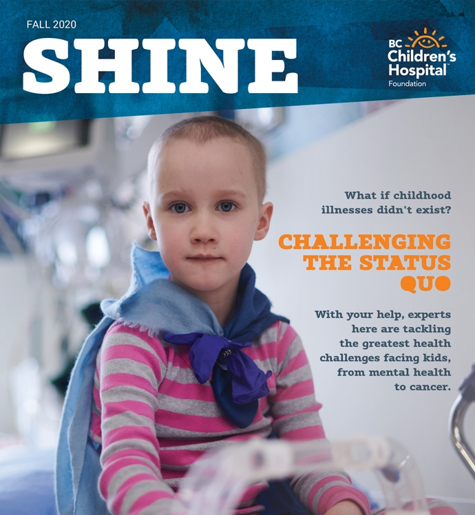 Fall Shine magazine cover photo