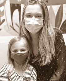 Ellie with Dr. Deyell