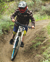 BCCH patient, Mattias riding his bike